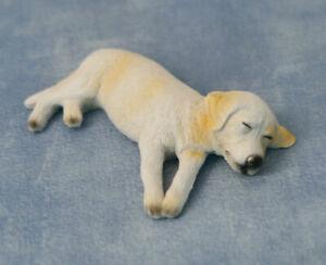1/12 Scale Dolls House Emporium Ben the sleeping/Sleepy Labrador Dog Puppy 5556