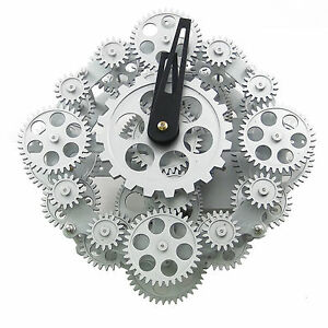 UNUSUAL COGS MOVING GEAR WALL/STAND CLOCK GCL06-278