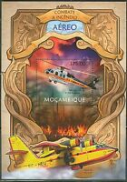 MOZAMBIQUE 2013 AVIATION FIRE FIGHTING PLANES  SOUVENIR SHEET