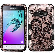 For Samsung Galaxy Amp 2 IMPACT TUFF HYBRID Case Skin Phone Cover + Screen Guard
