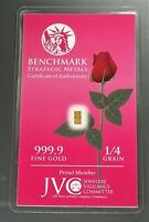 1/60th gram GOLD 24k with a SINGLE ROSE 999 FINE PURE GOLD bullion bar 10