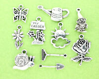 15 Pegasus Charms Antique Silver Tone 2 Sided Flying Horse SC4665