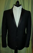 NWT BURBERRY LONDON mens black wool mohair tuxedo suit 52 42 R  ITALY