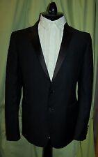 NWT BURBERRY LONDON mens black wool mohair tuxedo suit 52 42 R  ITALY