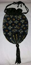 New listing Antique Art Deco Glass Beaded Purse Bag With Beaded Tassel