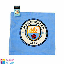 MANCHESTER CITY FC FACE CLOTH TOWEL BLUE 100% COTTON FOOTBALL SOCCER CLUB TEAM