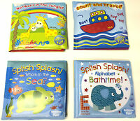 BRAND NEW BABY BATH BOOKS PLASTIC COATED FUN EDUCATIONAL TOYS FOR CHILDREN