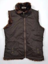 Old Navy Reversible Brown Mink Faux Fur Women's VEST Jacket Size S