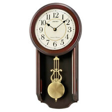 Seiko Analogue Pendulum Wall Clock, Westminster & Whittington Chimes,Wooden