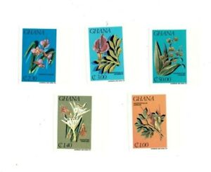 Ghana 1984 - SC# 921-5 - Flowers, Flora, Nature - Imperf Set of 5 Stamps - MNH