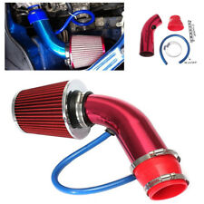 "Aluminum Car Air Intake Kit Red Pipe 3""+Cold Air Intake Filter+Clamp+Accessories"