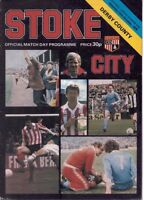 Stoke City v Derby County Official Programme -  27th October 1979