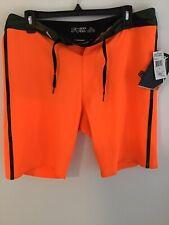 Mens Fox Boardshorts Size:33 Orange W/green Cammo Trim