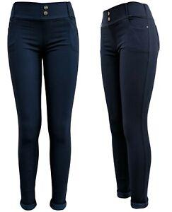Jeans Leggings gefüttert - Thermo-Jeggings - Winterhose warme Stretchjeans 36-46