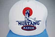 Collectible only Broken Bill Vtg Mustang Ranch Mesh Snapback Truck Cap Nude