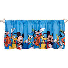 "Disney Mickey Mouse Window Valance Blue 16"" x 50 -A37-"