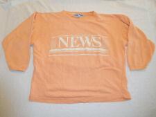 Vintage International News Sweatshirt Medium Peach Seattle 80s 90s VSCO Shirt