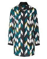Joanna Hope Longline Print Blouse Multicoloured Size UK 20 rrp £35 DH079 HH 24