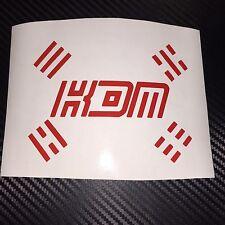 RED KDM Sticker Decal Korean Domestic Market Hyundai Kia SsangYong Soul Cee'd