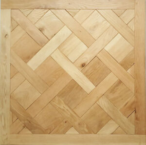 Antique style hand brushed French Versailles Solid Oak panels & borders