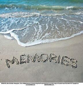 "Sugartree 12 x 12"" 2 sheets scrapbooking paper - Words in sand - Memories"