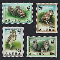 Aruba WWF Burrowing Owl Birds 4v MNH SG#138-141 MI#134-137 SC#101-104