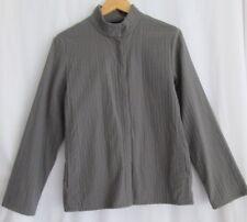 EILEEN FISHER size M lightweight olive green zip jacket water resistant classic