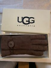 Ugg Australia Womens Brown Lined Gloves