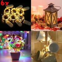 6x 20 LED Wire Copper Fairy String Lights Wedding Party Battery Lamp Decor lot