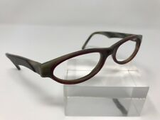Givenchy Eyeglasses 2507 002 52-16-135 Gray Red Horn Rimmed France 7754