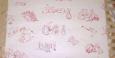 Beatrix Potter Wallpaper Red Line Drawings Peter Rabbit Baby Nursery