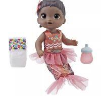 Baby Alive Shimmer 'n Splash Mermaid Doll w/ Black Hair - New, Unopened