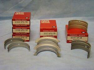 Pontiac Tempest 326 350 389 400 8 Cyl Main Bearing Set 010 Undersize 1961-1979