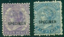 AUSTRALIA SO. AUSTRALIA #79-80 Mint SPECIMEN OVPTS