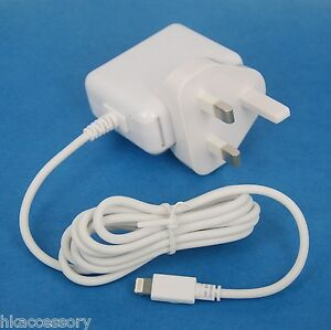 12W AC Adapter Wall Charger with UK British Plug WHITE for iPad Air 2 mini 4 3