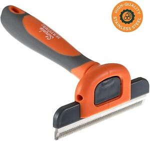 New Easy Shedding & DeShedding Tool, Pet Grooming Brush For Dogs, Cats & Horses
