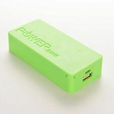 5600mAh 2X 18650 Battery Case Green Portable USB Power Bank Case Charger Box DIY