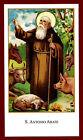SANTINO - HOLY CARD- IMAGE PIEUSE - Heiligenbild Sant' ANTONIO Abate