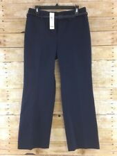 Ann Taylor LOFT Laura Dress Pants Womens 10P Navy Blue Straight Leg Stretch NWT