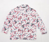 Select Womens Size 12 Floral White Blouse (Regular)