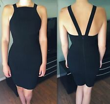 Azzedine Alaia Sexy Fitted Vintage Open Back Mini Dress Size S FR 36