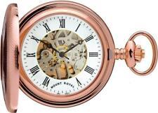 Mount Royal 17 Jewel Mechanical Rose Gold Plated Half Hunter Pocket Watch