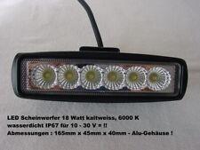 2 Led Strahler Mit Netzteil Kaltweiss Je 18 Watt Wasserdicht Ip67 Im Alu-gehäuse Lampen & Licht Außenleuchten