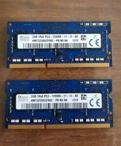 SK hynix - 4GB (2GB X 2) DDR3 PC3L - 12800S SODIMM Laptop RAM