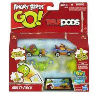 ANGRY BIRDS GO TELEPODS MULTI-PACK MOSTACHE PIGS & EXL ORANGE BIRD NEW IN BOX!