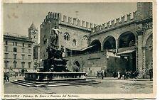 1933 Bologna Palazzo Re Enzo e Fontana del Nettuno  FP B/N VG ANIM