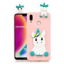 For Huawei P Smart P20 P30 Lite Y7 Y9 2019 Phone Case Slim TPU 3D Animal Cover