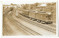 London Transport Poss District line Clerestory stock, Unposted RP PPC Prewar