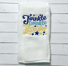 Burp Cloth Twinkle Twinkle Little Star