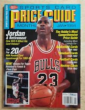 SCD Sports Card Price Guide Monthly January 1994 Michael Jordan Bulls with Cards